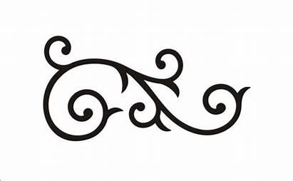 Scroll Stencil Patterns Clipart Flourish Wide Stencils
