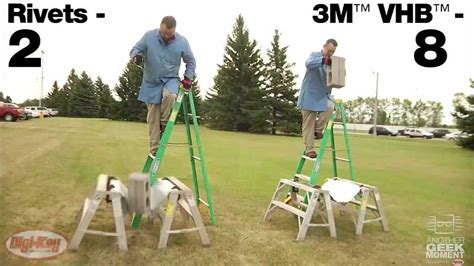3M VHB adhesive demonstration holds up man -- Another Geek ...