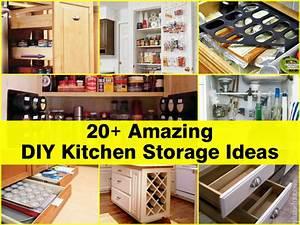 20 amazing diy kitchen storage ideas for Diy kitchen ideas