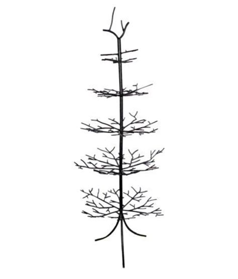 wrought iron christmas ornament display tree branches brown decorate 50 quot tall trees ornaments