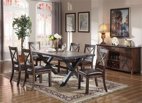 earvin weathered oak dining room set stopbedrooms