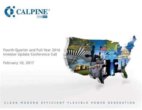 Calpine Corporation 2016 Q4 - Results - Earnings Call ...