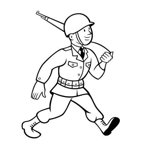 Kleurplaat Soldaten Met Geweer by Leuk Voor Marcherende Soldaat
