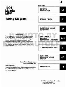 1996 Mazda Mpv Wiring Diagram Manual Original