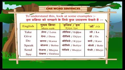 word sentences learn hindi  english  kids