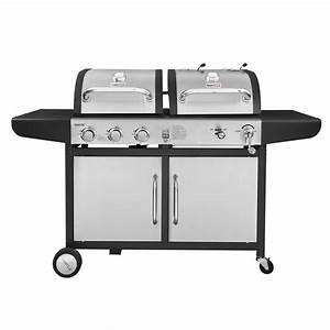 Kohle Gasgrill Kombination : royal gourmet 3 burner propane gas and charcoal combo grill zh3002 s the home depot ~ Frokenaadalensverden.com Haus und Dekorationen