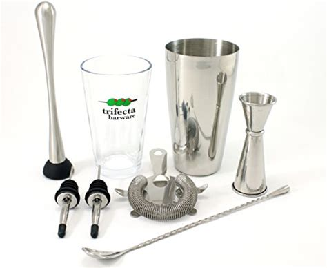 Cocktail Shaker And Mixing Set (7 Piece)