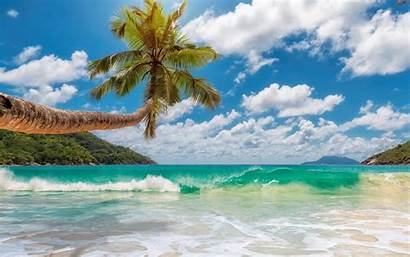 Tropical Beach Ocean Wave Summer Islands Wallpapers