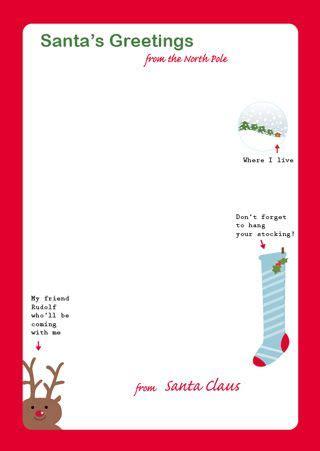 letter  santa  santa stationary holidays santa