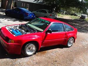Honda 1985 Crx Hf Modified  With A B16a Engine  With