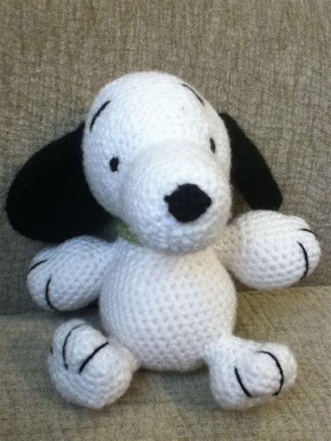 crochet snoopy  beagle plushie crochet  amigurumi
