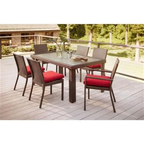 Hton Bay Patio Furniture Cushions Home Depot by Hton Bay Beverly 7 Patio Dining Set With