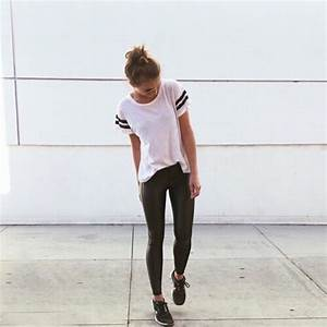 T-shirt: college, white t-shirt, striped shirt, tumblr ...