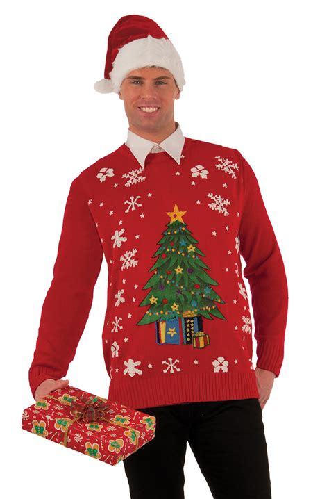 christmas tree sweater adult costume x large