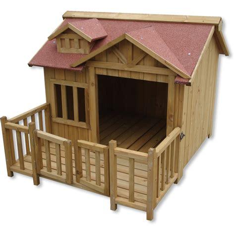 niche pour chien xl luxe bois balcon jardin terrasse chien