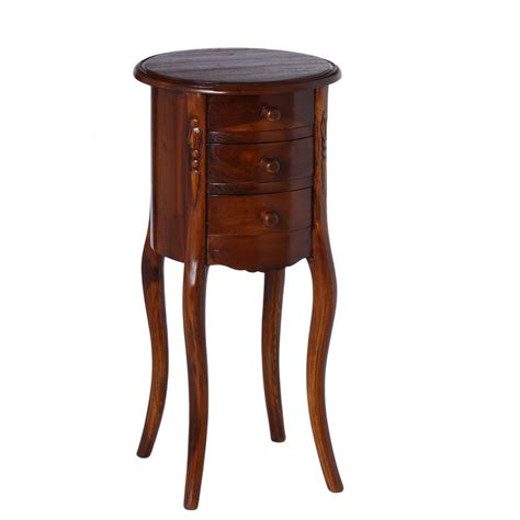 comodino tondo comodino tavolino tondo teak mobili etnici orientali