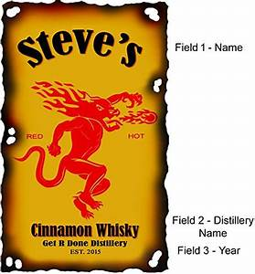 personalized fireball cinnamon whiskey design on high With custom fireball label