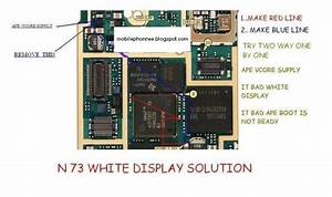 Nokia N73 Circuit Digram White Display
