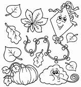 Coloring Pages Fall Children Kindergarten Printable Sheets Learning sketch template