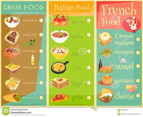 european cuisine european cuisine menu stock vector image of olive