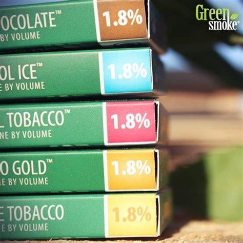 1.8% nikotīna stipruma pakāpe!   Smoke, Green, Tobacco