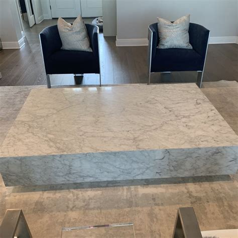 **looking to sell full living room set together. Restoration Hardware Marble Plinth Coffee Table | Chairish