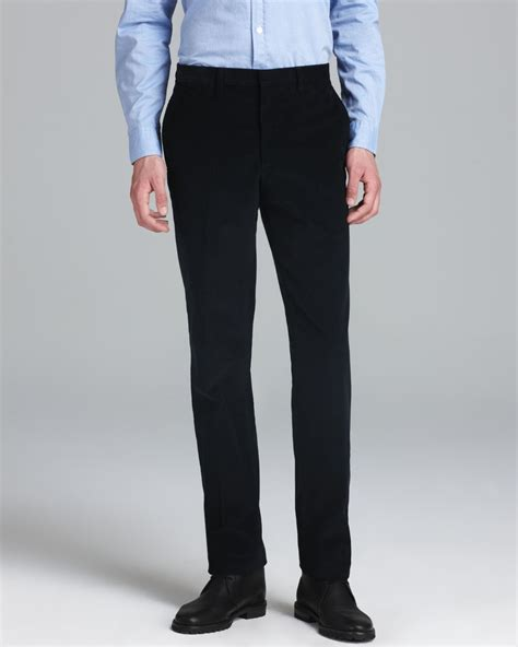 light blue corduroy pants mens lyst burberry london moorgate corduroy dress pants in