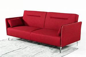 Divani casa davenport modern red fabric sofa bed for Modern red fabric sectional sofa