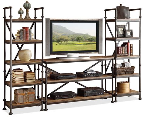wall entertainment shelf open entertainment wall unit with 12 shelves by riverside