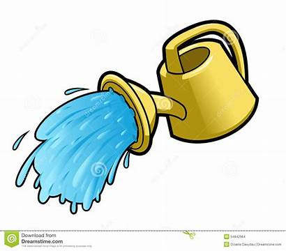 Watering Pouring Water Clipart Plants Clip Illustration