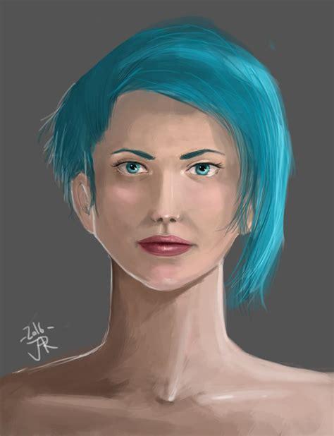 girl  blue hair   childhoodsurvivor  deviantart
