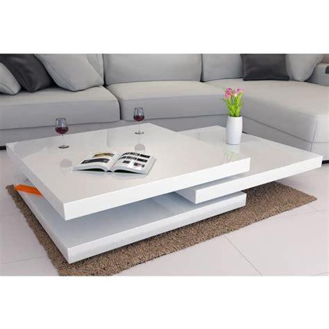 table basse design blanc table basse eslov blanc laqu