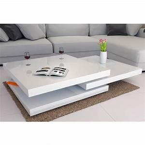 Table De Salon Moderne Blanc. salon moderne blanc laque avec des id ...