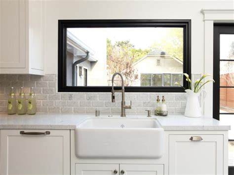 kitchen designs with window sink creative kitchen window treatments hgtv pictures ideas 9358