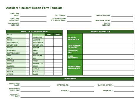 incident report templates forms smartsheet