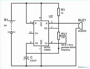 Electronic Mosquito Repellent Circuit Diagram Using Ic 555