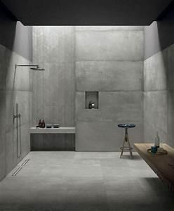 le carrelage effet beton en 55 photos inspirantes With carrelage effet beton