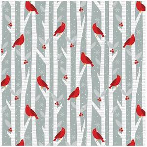 Alpine Christmas fabric by Wilmington prints with red