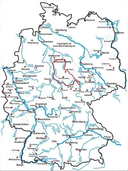deutschland karte fluesse fli