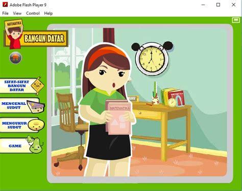 media pembelajaran animasi flash sd bangun datar kelas