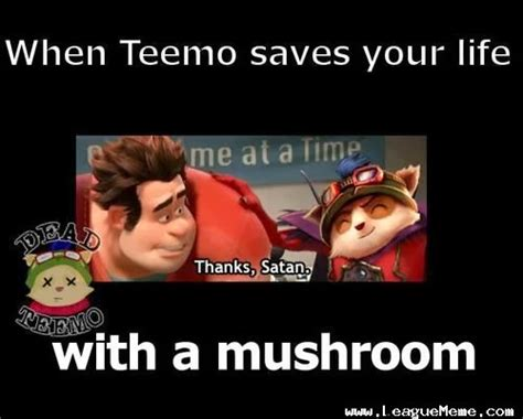 Teemo Memes - league of legends gamer lol jokes evil teemo