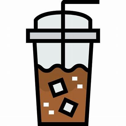 Coffee Svg Iced Icon Vector Icons Cold