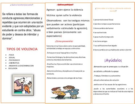 de tripticos en power point descargar triptico bullying