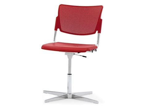 lamia plastic waiting room chair with 4 spoke base by
