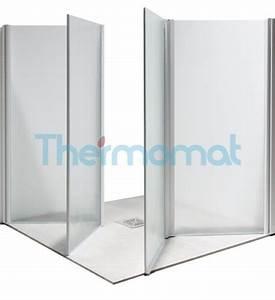 Box Doccia Per Piatto Doccia Filo Pavimento Altezza 100 Cm Set Doccia, Maniglie E Accessori