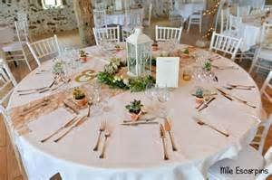 photo deco table mariage la d 233 coration quot nature chic quot de notre mariage mlle escarpins