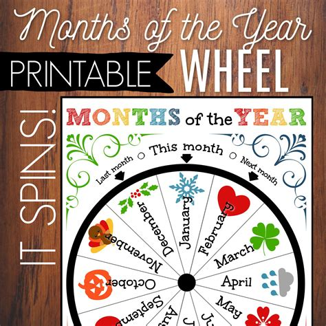 Months Of The Year Printable Wheel Kids Circle Time ...