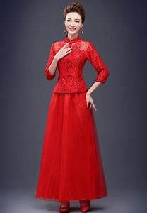 robe de mariage rouge courte robe de mariee rouge With robes chinoises longues