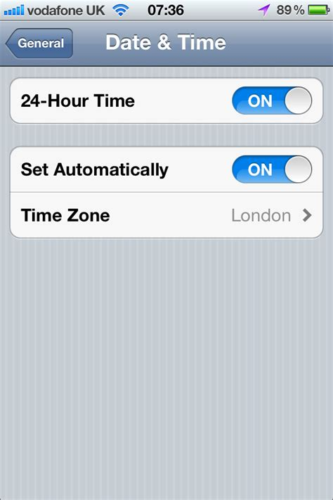 how to set time on iphone technology 187 iphone has wrong timezone when date time