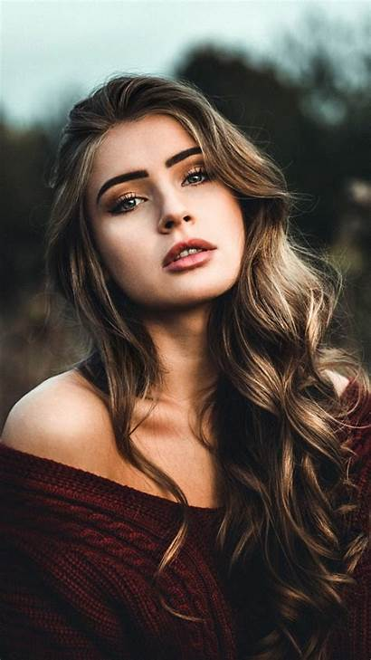 Brunette Woman Stunning Outdoor Poses Hair Wallpapersmug